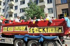 Парад гей-парада 2013 в Стокгольме Стоковые Фото