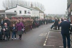 Парад день памяти погибших в первую и вторую мировые войны в Wareham, Дорсете Стоковое Фото