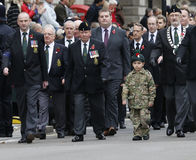 2015, парад день памяти погибших в первую и вторую мировые войны, Лондон Стоковые Фотографии RF