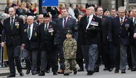2015, парад день памяти погибших в первую и вторую мировые войны, Лондон Стоковое Фото