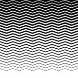 Параллельные горизонтальные прямые волнист-зигзага - горизонтально repeatable Стоковые Фото