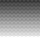 Параллельные горизонтальные прямые волнист-зигзага - горизонтально repeatable Стоковые Изображения