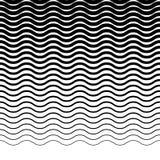 Параллельные горизонтальные прямые волнист-зигзага - горизонтально repeatable Стоковая Фотография