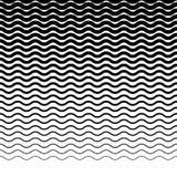 Параллельные горизонтальные прямые волнист-зигзага - горизонтально repeatable Стоковые Фотографии RF