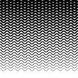 Параллельные горизонтальные прямые волнист-зигзага - горизонтально repeatable Стоковое Изображение