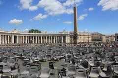 Параллельный квадрат Ватикана St Peters миров Стоковые Изображения RF