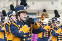 Парад игрока тромбона Стоковая Фотография