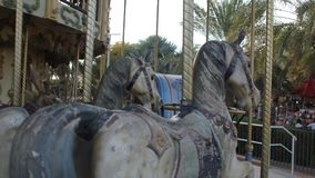 Пара лошадей carousel jostle для положения Стоковая Фотография RF