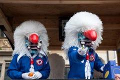 Парад, масленица в Базеле, Швейцарии Стоковое фото RF