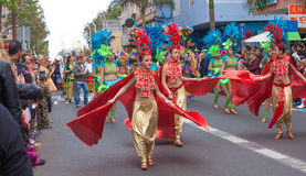 Парад масленицы 2015 детей Las Palmas de Gran Canaria Стоковое Изображение RF