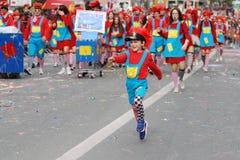 Парад масленицы, Лимасол Кипр 2015 Стоковое Фото
