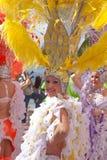 Парад масленицы 2015 пляжа Las Palmas de Gran Canaria на Las Стоковое Фото