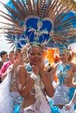 Парад масленицы 2015 пляжа Las Palmas de Gran Canaria на Las Стоковые Фотографии RF