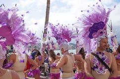 Парад масленицы 2015 пляжа Las Palmas de Gran Canaria на Las Стоковые Изображения RF