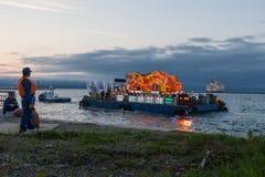Парад моря фестиваля Aomori Nebuta в Японии Стоковые Фото