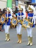 Парад независимости женщин шпаги стоковая фотография