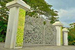 Парадные ворота ботанических садов Сингапура Стоковое Изображение RF