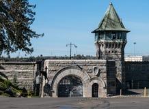 Парадный вход, историческая государственная тюрьма Folsom Стоковые Изображения RF