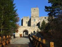 Парадный вход к замку Strecno, Словакия Стоковая Фотография