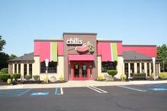 Парадный вход Chilis Resturant Стоковая Фотография