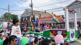 парад дня Индии 2015 ежегодников в Edison, Нью-Джерси стоковое фото