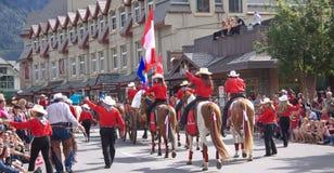 Парад дня Канады в Banff Стоковое Изображение