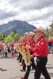 Парад дня Канады в Banff Стоковая Фотография RF