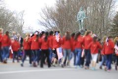 Парад дня патриотов Стоковые Фотографии RF