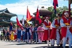 Парад дня фестиваля Yudeung фонарика Чинджу Стоковое Изображение