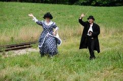 Пары 1800's Reenactment Стоковые Изображения RF