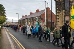 Парад памяти на памяти воскресенье 2016 в Wrexham Уэльсе Стоковая Фотография RF