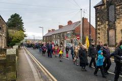 Парад памяти на памяти воскресенье 2016 в Wrexham Уэльсе Стоковые Изображения