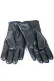 Пара перчаток чернокожих человеков кожаных Стоковое фото RF