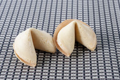 Пара печенья с предсказанием Стоковая Фотография