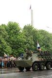 Парад победы в Донецке Военный парад предназначенный к семидесятому Стоковые Фотографии RF