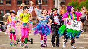 Парад 2016 Портленда грандиозный флористический Стоковые Изображения