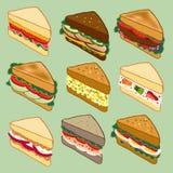 Парад разнообразия сандвича Стоковые Изображения