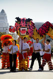 парад дракона золотистый Стоковые Изображения