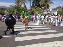 Парад Санта-Барбара солнцеворота стоковое изображение rf