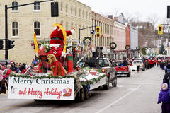 Парад Санта Клауса - надежда порта, Онтарио Стоковые Фотографии RF