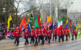 Парад Торонто Дед Мороз Стоковые Фото