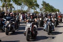 Парад 2015 улицы ралли Harley Davidson европейский Стоковые Изображения RF