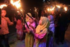 Парад факела Стоковое Изображение