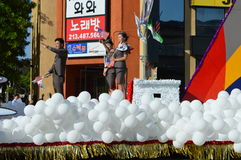 Парад 2015 фестиваля Лос-Анджелеса Кореи поплавка воздушного шара Стоковые Фотографии RF