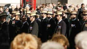 Парад день памяти погибших в первую и вторую мировые войны Стоковые Фото