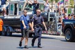 Парад 2012 гордости San Francisco голубой Стоковые Изображения RF