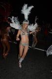 Парад nighttime для того чтобы отметить конец реки Темзы Festiv Стоковые Фото