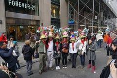 Парад 82 2015 NYC пасхи стоковое изображение rf