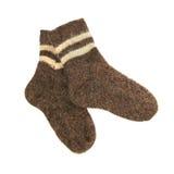 пара socks теплое шерстяное стоковое изображение rf