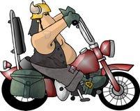 парень велосипедиста иллюстрация вектора